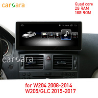 2G RAM 16G ROM Android touch screen for C Class W204 2008 2014 W205 GLC 10.25 display GPS Navigation radio multimedia player