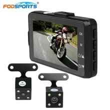 Fodsports 3 inch motorcycle camera DVR 720P motorbike video recorder dual lens cameras dash cam 120 degree wide angle G-sensor