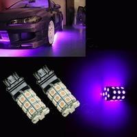 US Warehouse PA LED 2pcs x Super Bright Purplr Color 30SMD T25 3157 5050 LED Tail Brake Turn LED Car Light 12V