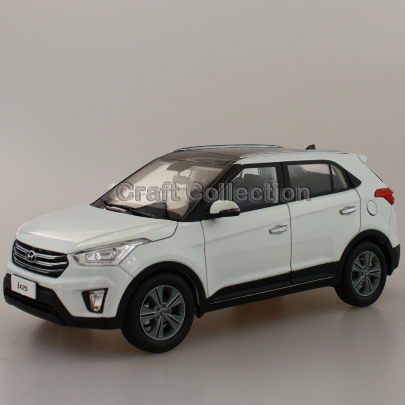 White 1:18 Hyundai IX25 2015 Compact SUV Diecast Model Car Urban Off Road Vehicle Cross Country Jeep 1 6 diecast model bike yamaha cross country motorcycle newray