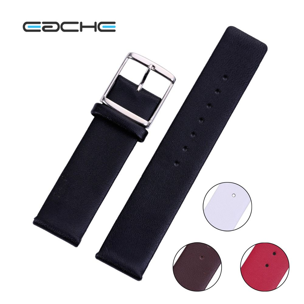 Red Black Brown White High Quality Genuine Leather Watch Band Straps For Women or men  12mm 14mm 16mm 18mm 20mm 22mm 24mm 26mm 18mm 19mm 20mm 21mm 22mm available new high quality black or brown genuine leather watch bands straps free shipping