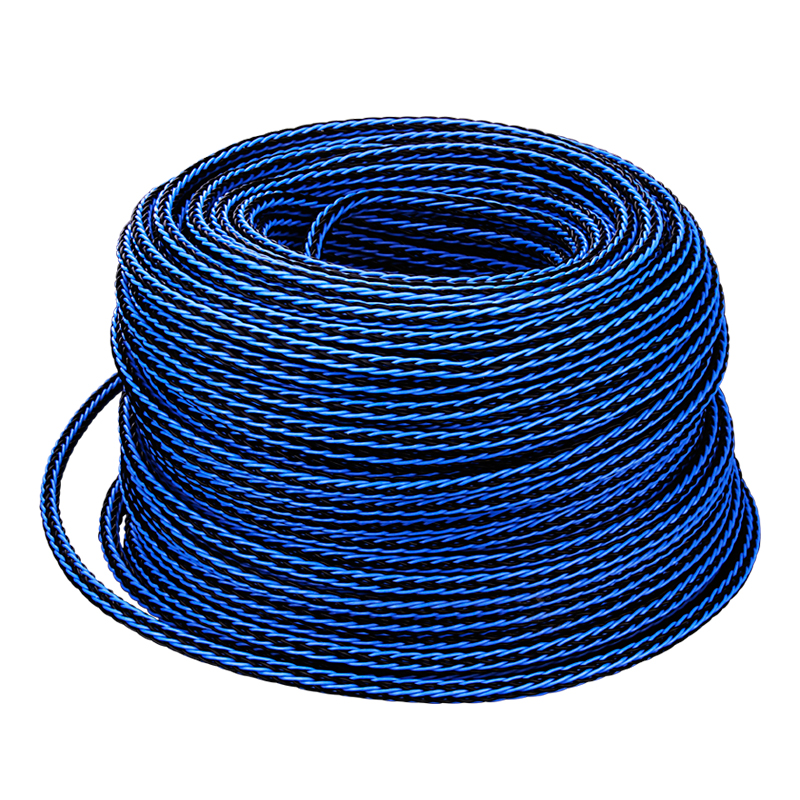YYAUDIO One Meter Blue 8TC 8core Twist Cable OCC Copper Wire Cable For HIFI Audio Speaker Amplifier Turntable CD Player 16 Stran