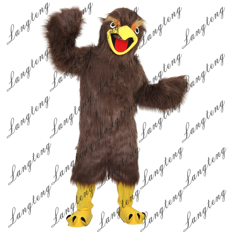 Hot Sale Brown eagle    Mascot Costume Adult Size Halloween Outfit Fancy Dress Suit Free Shipping 2019New