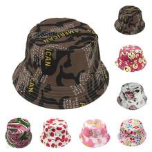 eb17e3c734d Womail hat summer bucket hat Unisex Toddler Kids Boys Girls Floral Pattern Bucket  Hats Sun Helmet