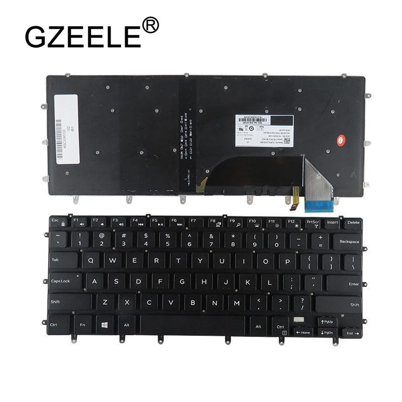 GZEELE US laptop <font><b>keyboard</b></font> for <font><b>Dell</b></font> XPS 15 9550 9560 15BR Inspiron 15- 7558 7568 XPS15 Precision <font><b>5510</b></font> m5510 English backlit NEW image