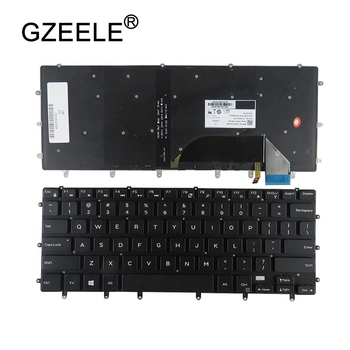 GZEELE US laptop keyboard for Dell XPS 15 9550 9560 15BR Inspiron 15- 7558 7568 XPS15 Precision 5510 m5510 English backlit NEW image