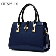 Chispaulo célèbre marque femmes brevet pu sacs à main en cuir vintage bolsa femininas femmes sacs à main en cuir vintage de mode chaude f328