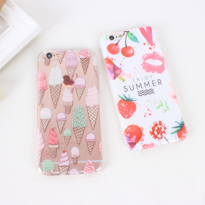 Color Macarons cake Design Fashion soft TPU Phone Cases For iPhone 6 6s TPU Fundas Cover for iPhone SE 5 5s 5G phone bags (8)