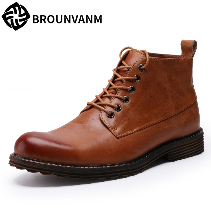 2017 new men's shoes Martin boots, high shoes, old men's boots in Europe and America, winter tides fall trendboots in europe and america heavy bottomed martin boots british style high top shoes shoes boots sneakers