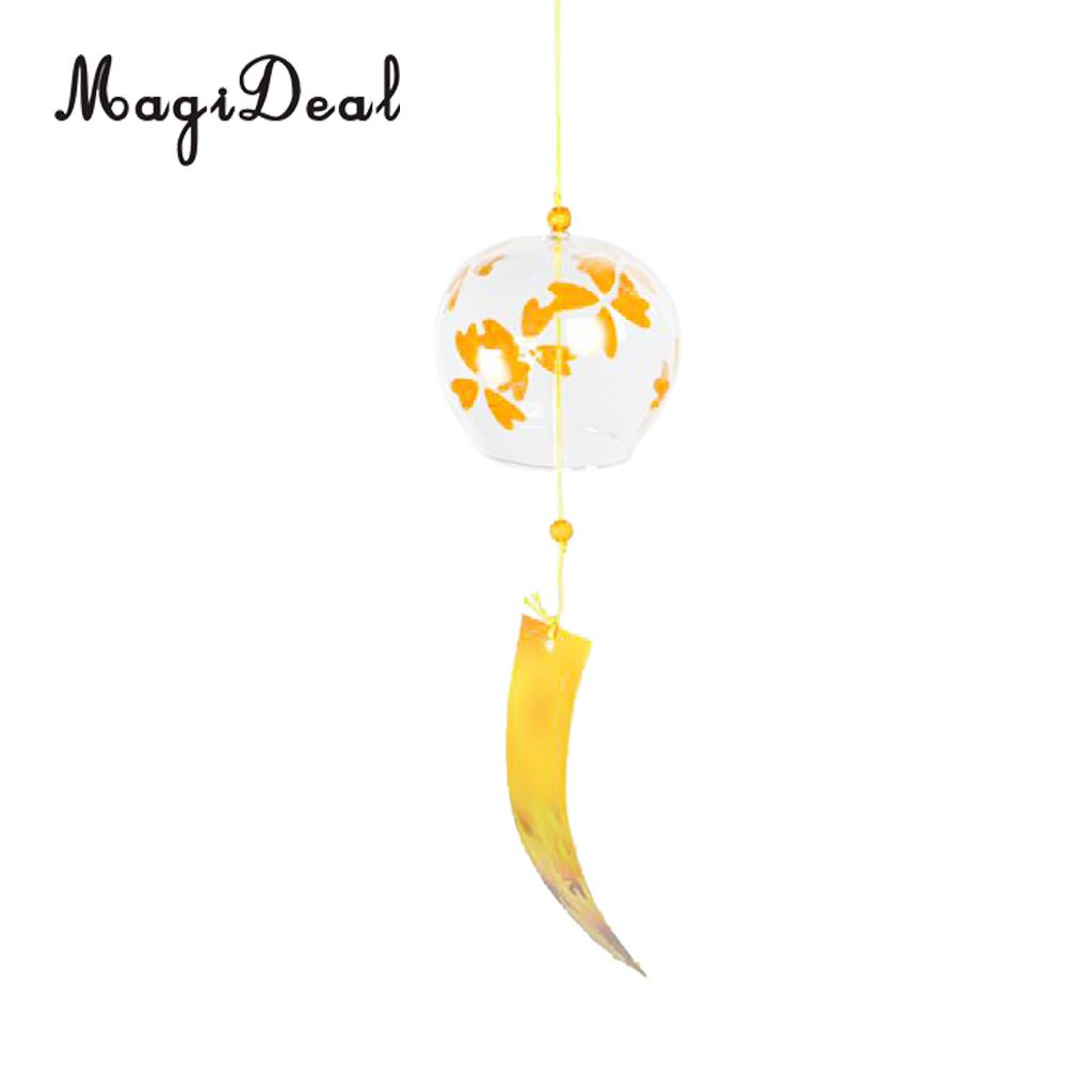 2pcs Wind Chimes Wind Bells Handmade Glass Birthday Gift Patio and Garden Gift Home Decors Wind Chimes Japanese Style #1