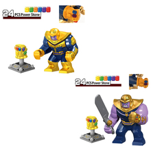 Marvel Avengers Infinity War Super Heroes Thanos Infinity Gauntlet With stones Building Blocks Toys