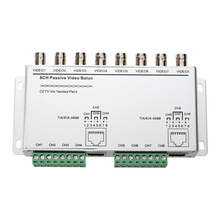 MOOL  8 Channel Passive Video CCTV Transmitter Balun BNC Female RJ45 Cat5 UTP