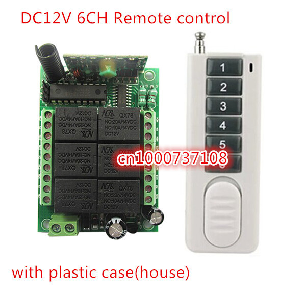 NEW/ 6CH DC12V 10A long distance RF Wireless Remote Control System (transmitter+receiver/switch) Momentary /Latch dc12v 6ch 10a wireless rf remote control switch transmitter receiver for appliances gate garage door window lamp