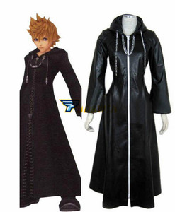 Image 2 - Kingdom Hearts 2 Organizasyon XIII Siyah Ceket Robe Cosplay Kostüm Custom Made