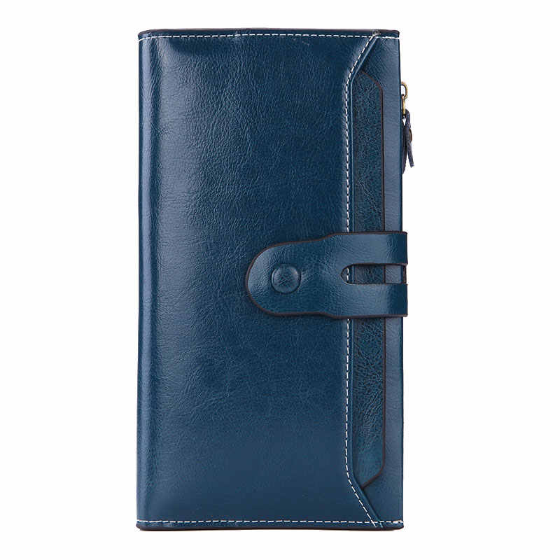 Brand DESIGN Women Genuine Leather Wallets Long Design Clutch Purse Female Removable Card Holder Wallet Lady Money Coin Bag