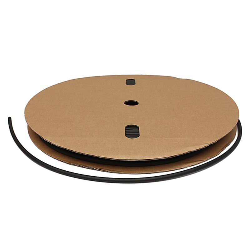 Durable 100 Feet/30 Meter Black  6mm ID Polyolefin 2:1 Heat Shrink Tube Tubing Industrial Electronic Hot Sale