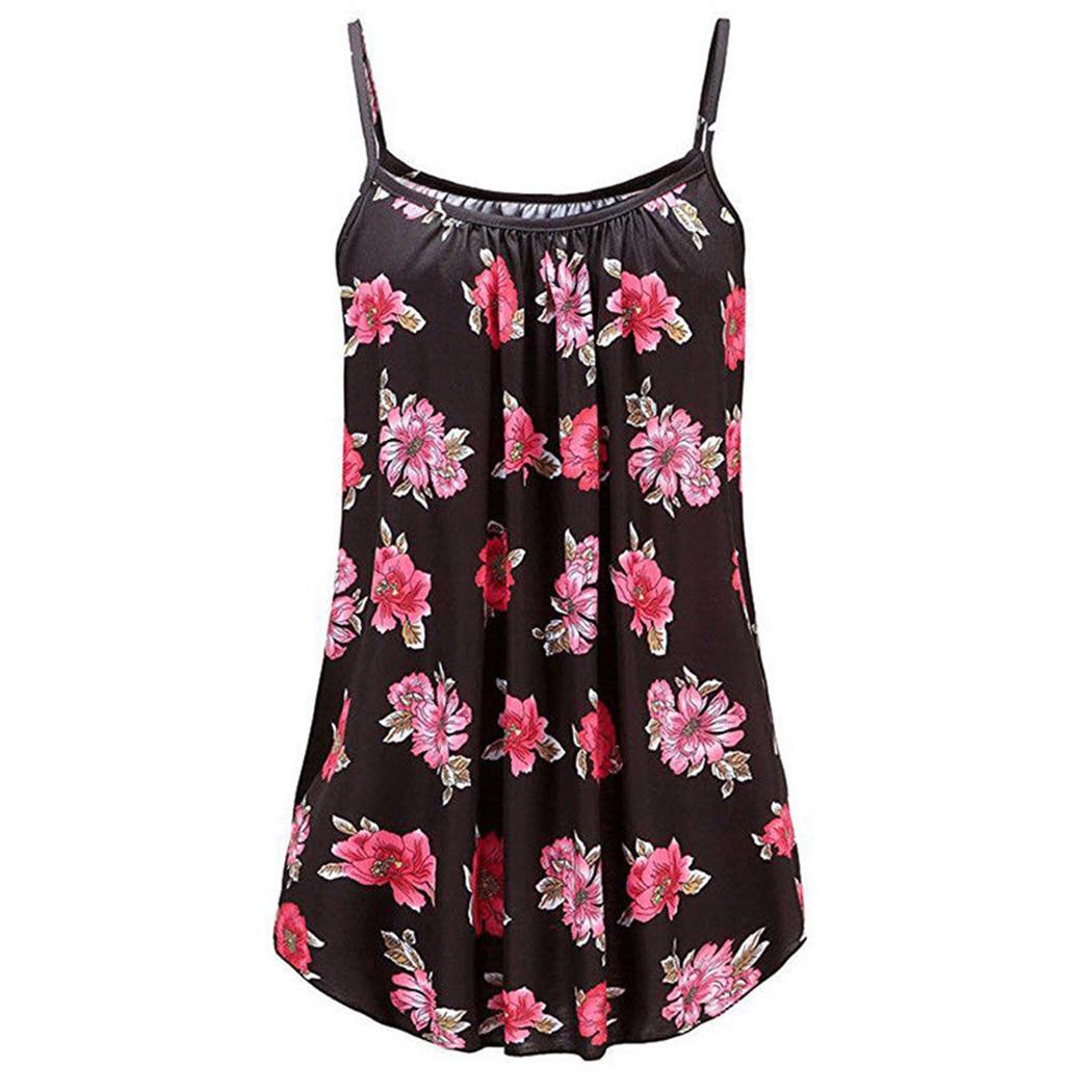 068cd1876d Boho Print Women Spaghetti Strap Sexy Cami Tank Tops Swing Camisole  Sleeveless Ladies Vest Shirts Plus Size 3XL Camisetas Mujer