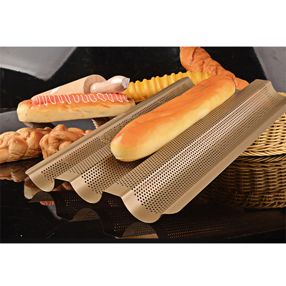 3 Slots Baking Tray Kitchen Diy Stainless Steel Perforated