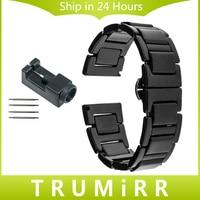 20mm Full Ceramic Strap For Samsung Gear S2 Classic SM R7320 Moto 360 2 42mm Men