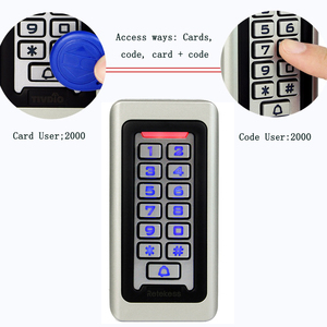 Image 3 - RETEKESS Access Control Keypad System RFID Door 125KHz 1 Access Control Keypad + 10 RFID Keyfobs Cards With 2000 Users F9501D