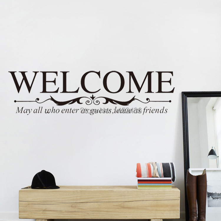 Large Size Welcome To Our Home Sign Wall Quote Decals For