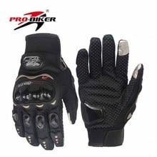 2017 Verão Novo PRO-BIKER moto cross-country cavaleiro de moto luvas touch screen glove gota MCS-01C preto vermelho cor azul