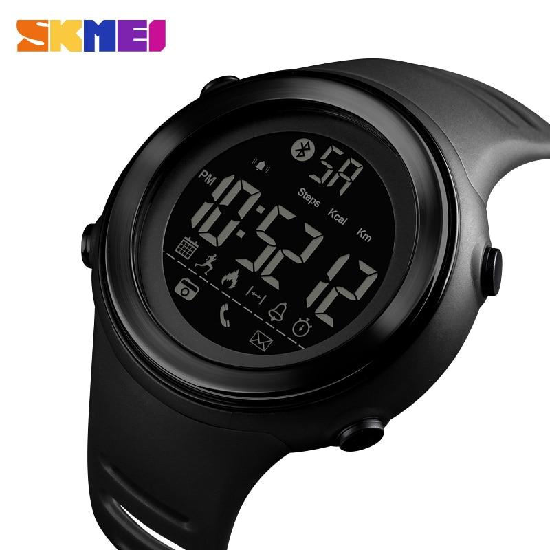 Image 2 - SKMEI Bluetooth Smart Sports Watch Men Fashion Digital Pedometer Calories Fitness Clock Waterproof Wristwatch Relogio MasculinoDigital Watches   -