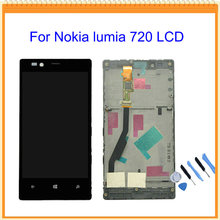 For Nokia Lumia 720 LCD Display with Touch Screen Digitizer Assembly with frame + Tools Free Shipping