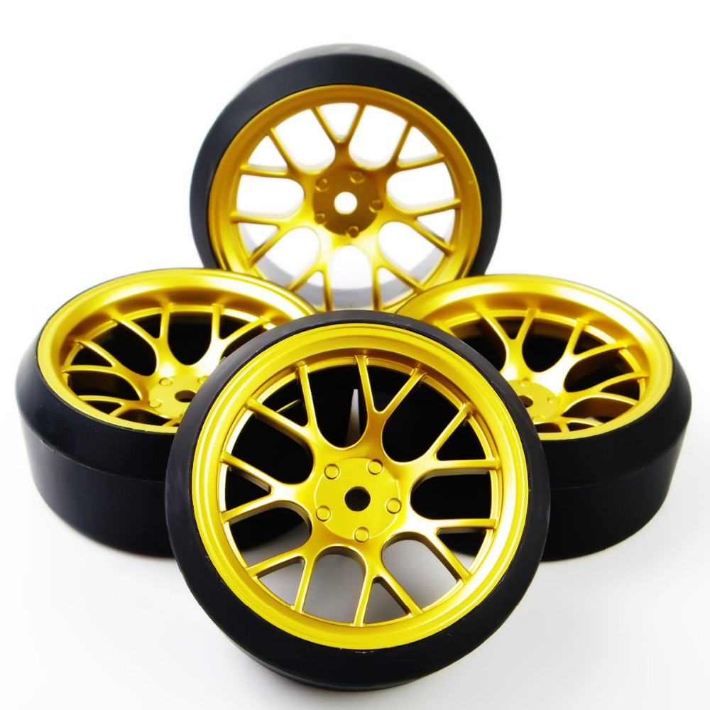 4Pcs/Set 12 mm Hex RC Drift Tires Tyre & Wheel Rim Set DHG+PP0370 Fit HSP HPI 1:10 On-Road Model Car Toys Parts Accessories