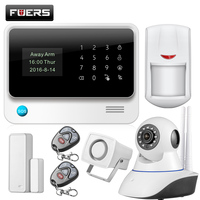 Fuers Spanish Russian English French WiFi GSM Home Alarm System Security Kit HD IP Camera GSM