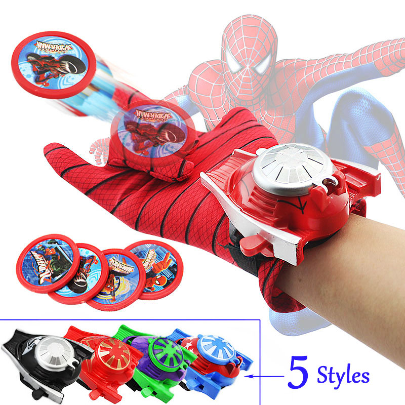 Cosplay Super Heroes Launcher Glove Shoot Darts Props <font><b>Toy</b></font> <font><b>Cool</b></font> <font><b>Kid</b></font> Baby Boy Children Sports Outdoor Christmas <font><b>Toy</b></font> Set image