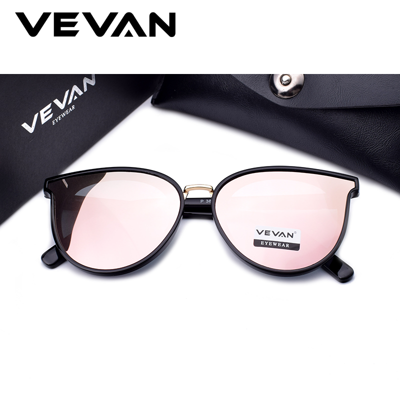 b3f789209a VEVAN 2018 High Quality Cat Eye Polarized Sunglasses Women UV400 Sunglass  Mirror Pink Sun Glasses Bees