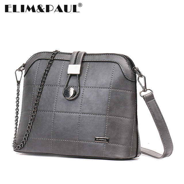 30af7f92915a ELIM PAUL Crossbody Bag Saddle Plain Women Messenger Bags Female Soft PU  Leather Shoulder Bags Silit Pocket Bolsas Femininas