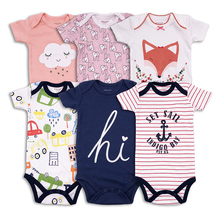 3 pcs/lot summer Newborn Baby Clothing Cotton  Short Sleeve Baby boy Girls Clothes Infant Jumpsuit Body for Babies Baby Bodysuit цена