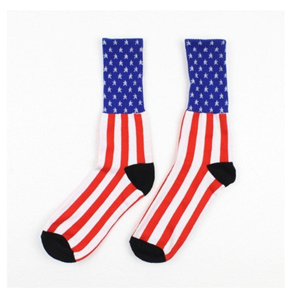 1 Pair Fashion Style Unisex American Usa Star Flag Stripes -1719