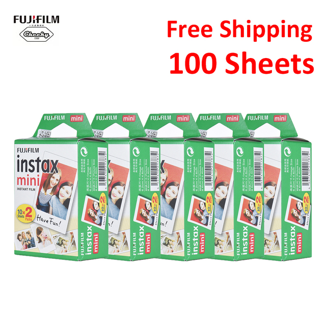 Original 100 Sheets Fujifilm Instax Mini Film Photo Paper Snapshot Album Instant Print for Fujifilm Instax Mini 7s/8/25/90/9