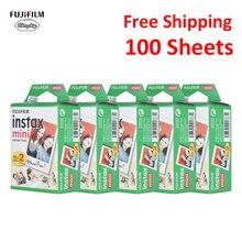 Originele 100 Vellen Fujifilm Instax Mini Film Fotopapier Snapshot Album Instant Print voor Fujifilm Instax Mini 7 s/ 8/25/90/9
