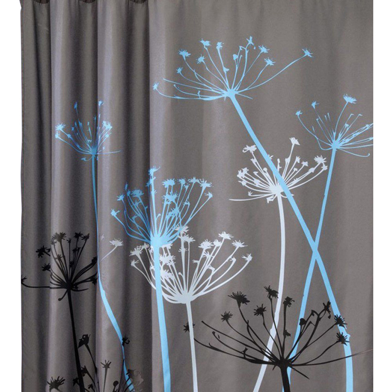Modern peva multi color dandelion pattern 3d waterproof polyester shower curt - Rideau de douche vintage ...