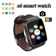 Smartwatch Bluetooth sim card camera Smart Watch x6 WristWatch digital sport watches for IOS Android phone wrist watch for men