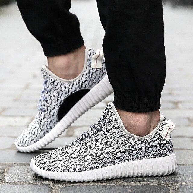 2017 New Men  Casual Shoes Fashion Breathable Shoes Grey Black Lacing Flat Shoes Plus Size Size 36-46 No Logo