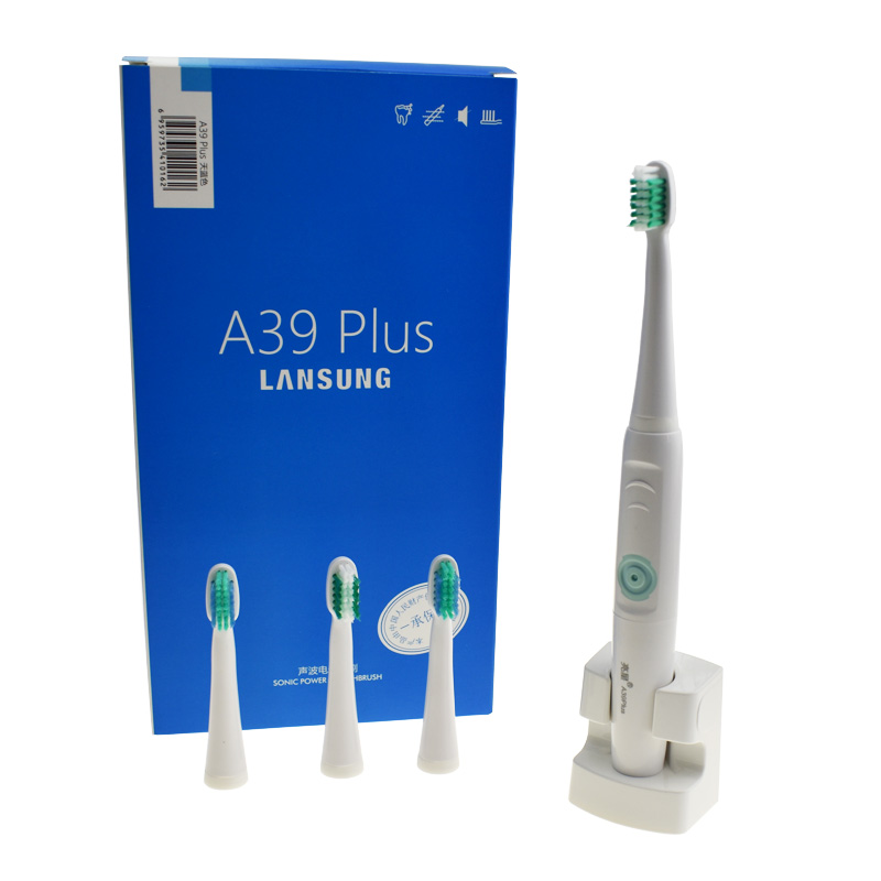 LANSUNG A39Plus Chargeable Electric Toothbrush Wireless Charge Ultrasonic Sonic Electric Tooth Brush 4 Heads Teeth Brush 2017 220v pink a39plus 55 wireless ultrasonic electric toothbrush electric tooth brush rechargeable 4 heads teeth brush