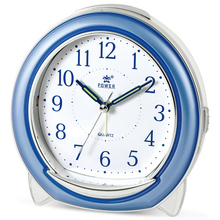POWER Super Silent Desk Alarm Clock,  Quartz Alarm Clock with  Loud Mechanical Bell Birdsong Music Alarm, Nightlight, Snooze