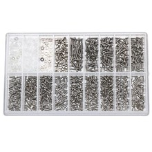 Tool 1000pcs Set Kits Stainless Steel For Micro Sunglass Watch Spectacles Phone Tablet Screws Nuts Screwdriver Repair Tool free shipping 13 pcs flat and cross stainless steel watch screwdriver set for watch repair