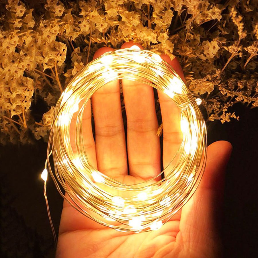 Thrisdar USB Battery Operated Copper Wire Christmas LED String Fairy Light Wine Bottle Cork Stopper Light DIY Xmas Party Garland