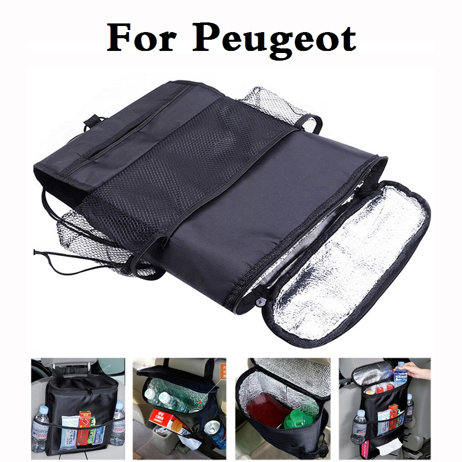 New auto Car Seat Cover Organiser Cooler Multi Pocket storage bags styling For Peugeot 308 GTi 4007 4008 407 408 508 607 iOn RCZ