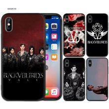 Black Rubber Soft Silicone Case Bag Cover for iPhone XS XR X 7 8 6 6S 5C 5E 5S 5 Plus Max Shell Fundas Coque Cas Veil Brides BVB(China)