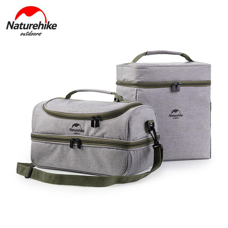 Naturehike Outdoor <font><b>Cooler</b></font> Bag Food Thermos Picnic Bags Camping Party Waterproof Incubator Insulated Bag Heated Lunch Box Bag Tot