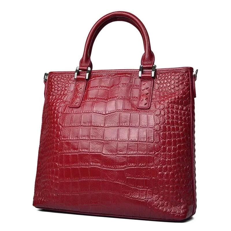 Nieuwe model 2018 gratis vervoer Mode Trend vrouwen single schoudertas Messenger Bags hoge kwaliteit Krokodil tattoo handtas-in Top-Handle tassen van Bagage & Tassen op  Groep 1