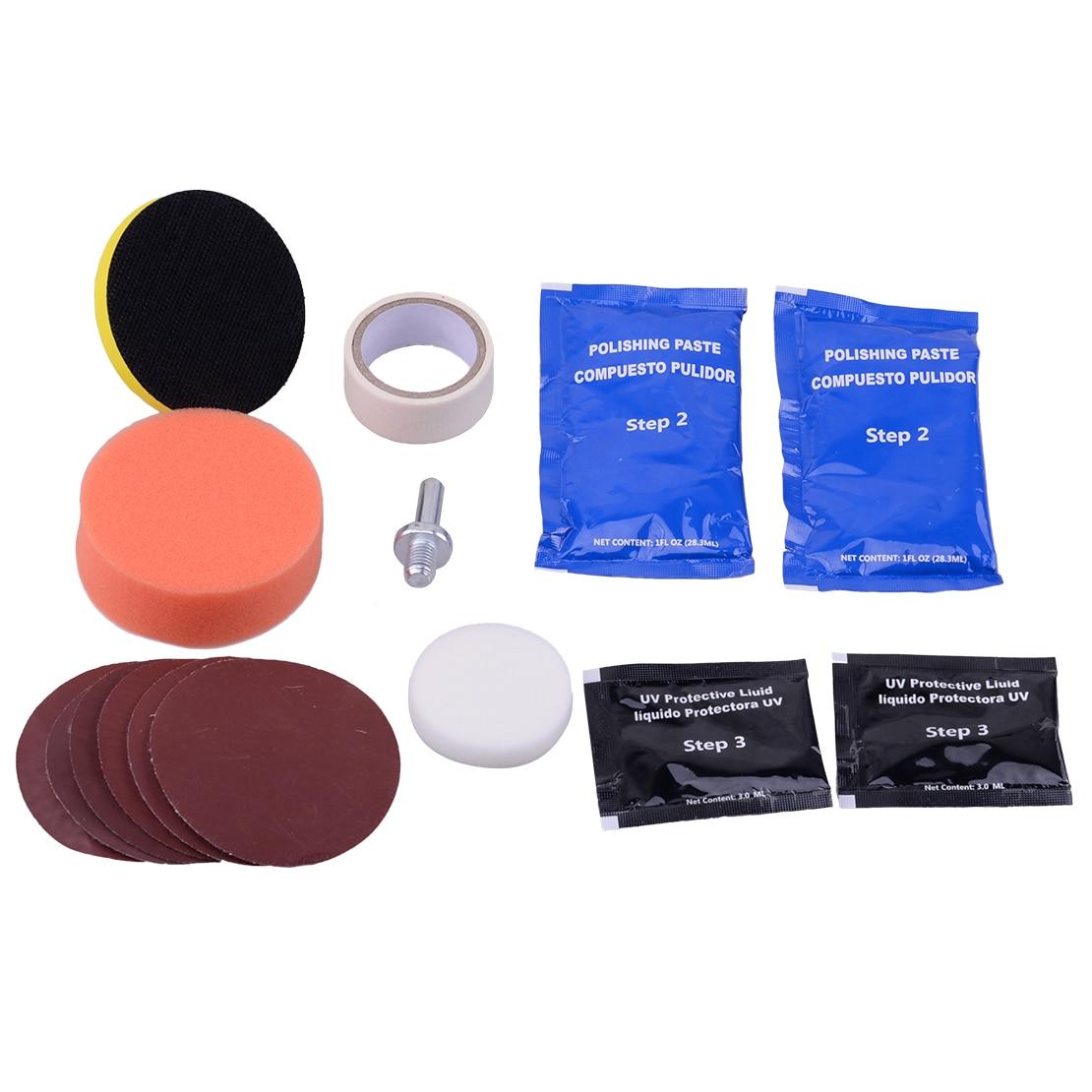 beler Car Auto Headlight Lens Restoration Kit Restorer System Professional Polishing Cleaning Tool Universal