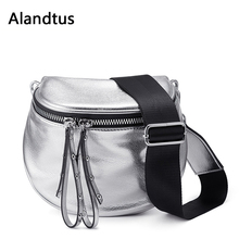 Alandtus Crossbody Bags For Women Soft Leather Shoulder Bags 2019 Casual Ladies Messenger Bag Pu Leather Saddle Bucket Bag Bolsa just star brand new design fashion collage pu leather girls ladies shoulder saddle bag with tassles crossbody bags for women